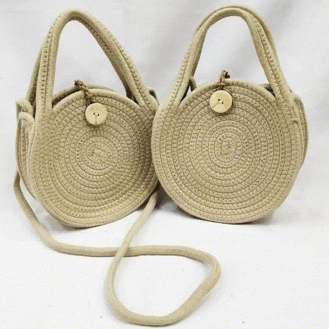Bolsa redonda corda - Foto 4