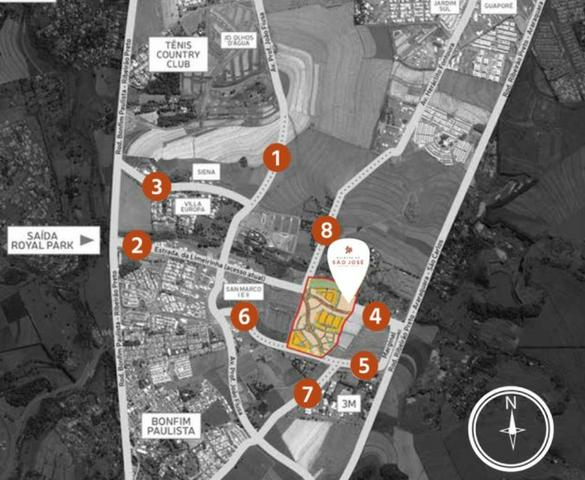 Lote 314 m² - Plano pronto para construir - Condomínio Fechado Quintas de São José - Foto 4