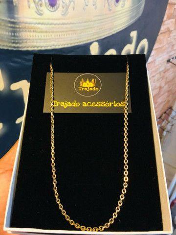 Correntes banhadas a ouro 18k + pingente   Garantia de 6 meses. - Foto 3