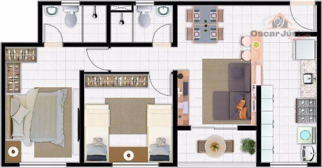 Apartamento com 2 dormitórios à venda, 49 m² por R$ 169.735,00 - Centro - Eusébio/CE - Foto 11