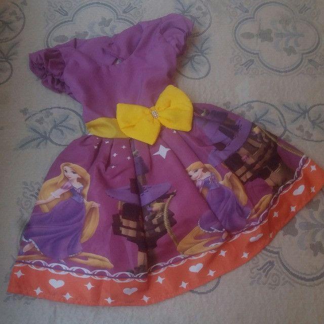 Vestido Rapunzel Vários Tamanhos