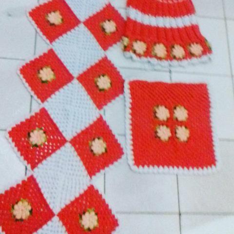 Conjunto de cozinha em croche