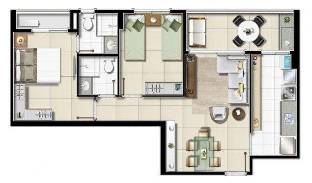 Na Olivia Flores, apartamentos de 2 ou 3 quartos com varanda Gourmet - Foto 7