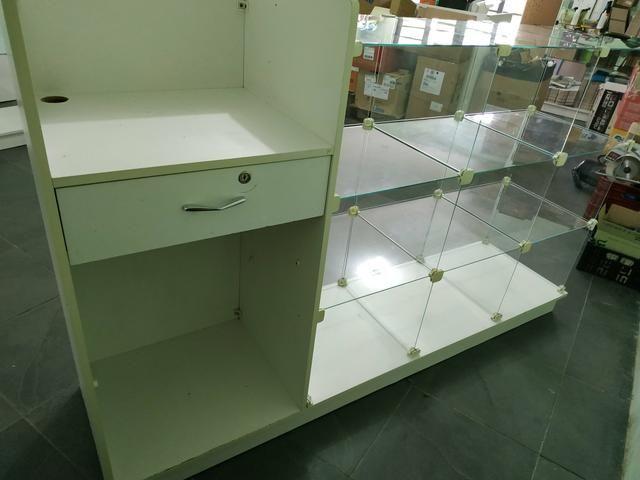 Balcão Caixa MDF /vidro - Foto 2
