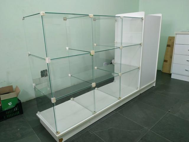 Balcão Caixa MDF /vidro