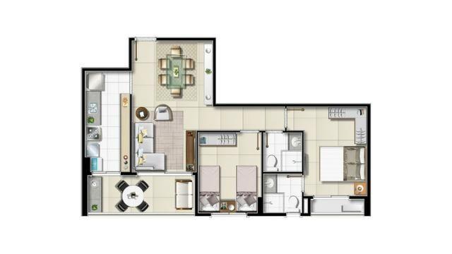 Na Olivia Flores, apartamentos de 2 ou 3 quartos com varanda Gourmet - Foto 4