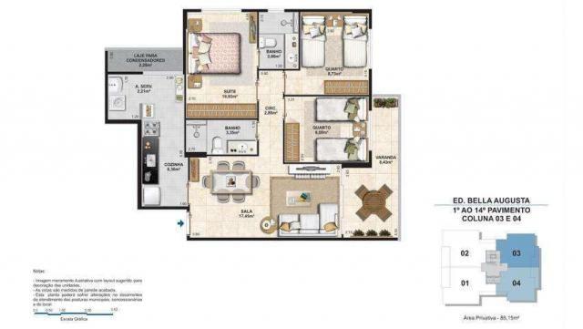 Bella Augusta Residence - Apartamento de 3 ou 4 quartos com suíte - Cariacica, ES - Foto 15
