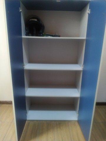 Armário de Escritorio cinza/azul - Foto 4