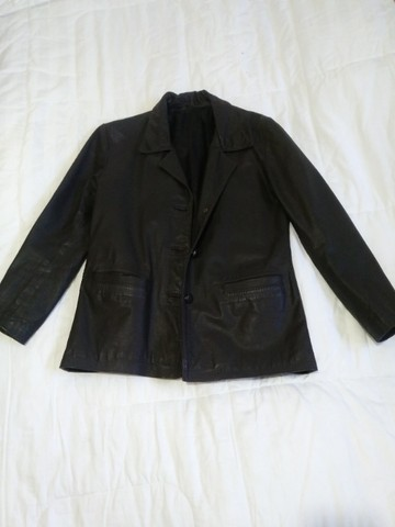 Jaqueta de couro feminina/nativa genuine - Foto 4