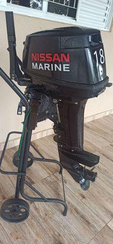 Motor Popa Nissan Marine 18 HP. - Foto 2