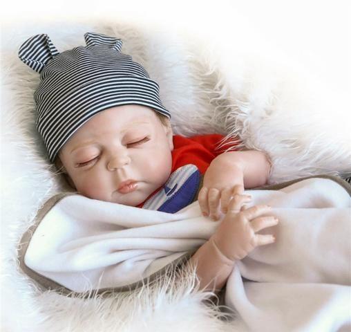 Boneca Bebê Reborn Toda Em Silicone Realista