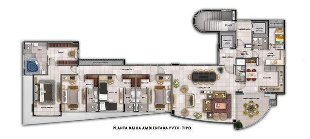 Fantástico apto Petrópolis com 227 m2 , 4 suítes - Foto 7