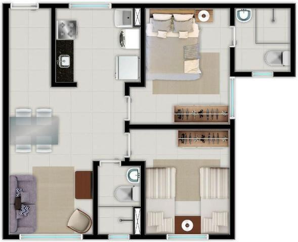 Apartamento no Centro da Caucaia Próx. Shopping Iandê - Promoção ITBI + Registro - Foto 8