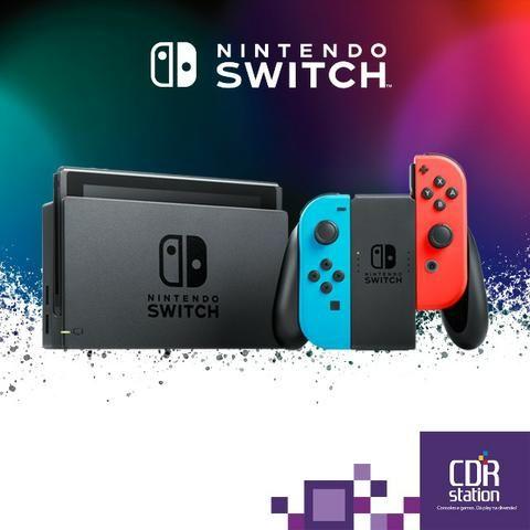Nintendo Switch Neon ou Cinza Novo 2 Anos de Garantia