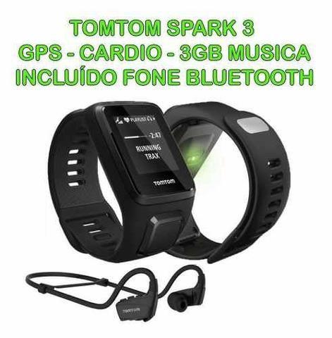 Relógio Tomtom Spark 3 Cardio Preto Large Gps Runner