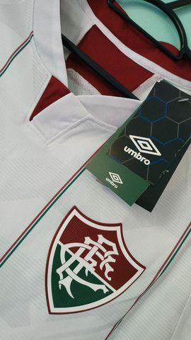 Camisa do Fluminense Branca Masculina 2020/21 - Foto 2