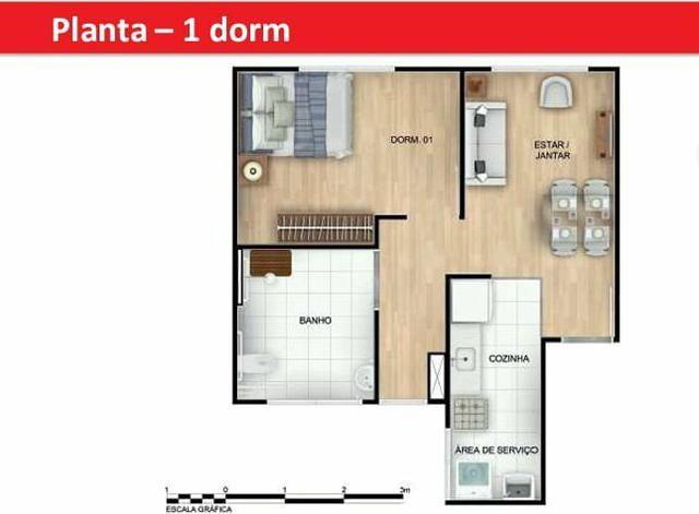 Rm. Apê 2 quartos , em ótima localização em SJP - Foto 6