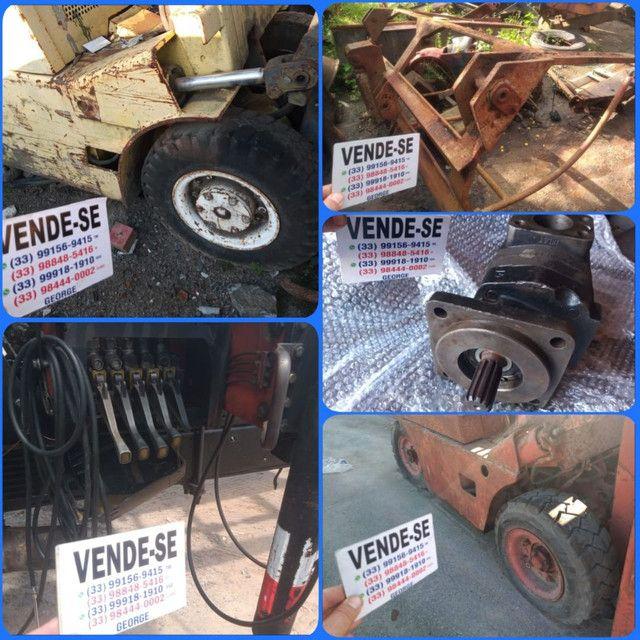 Garra com cilindro hidraulico,para carregadeira trator retroescavadeira munck - Foto 4