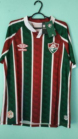 Camisa do Fluminense Tricolor Masculina 2020/21