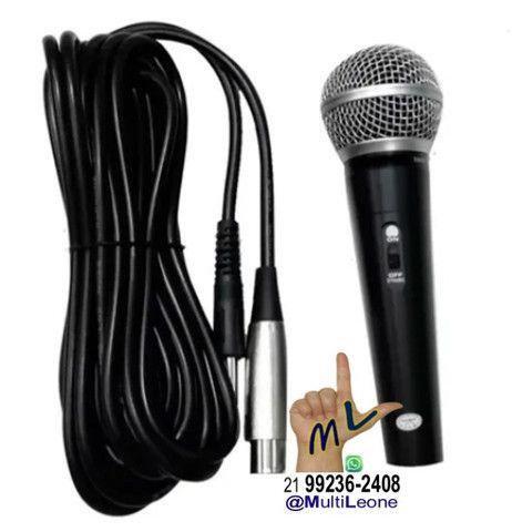 Microfone SemiProfissional Sm-58 Dinâmico Cardióide + Cabo De 3 Metros - Foto 2