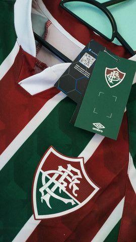 Camisa do Fluminense Tricolor Masculina 2020/21 - Foto 2
