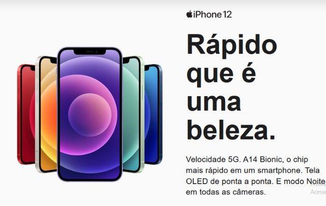 iPhone 12 Apple 128GB Preto, Novo, Lacrado, NF - Foto 2