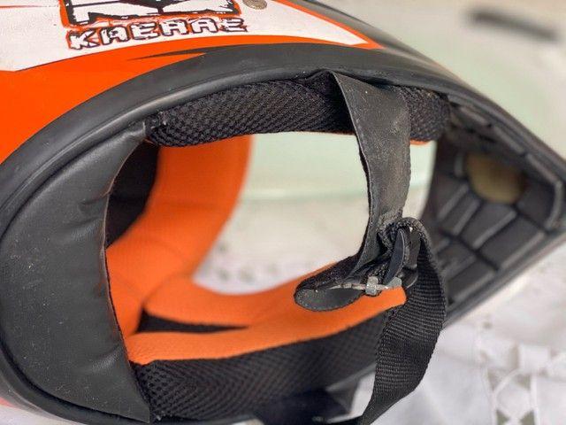 Capacete Bicicross Kaerre preto/laranja tamanho 58 - Foto 6