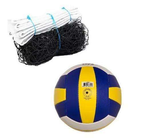 Kit Volei recreativo com bola de volei e rede completo - Esportes e ... d2720a2b3ec41