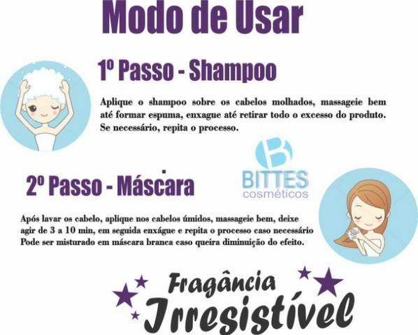 Kit Silver Matizador Desamarelador Cabelo Loiro Platinado Shampoo 500 ml Máscara 500 ml - Foto 4