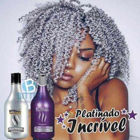 Kit Silver Matizador Desamarelador Cabelo Loiro Platinado Shampoo 500 ml Máscara 500 ml - Foto 5