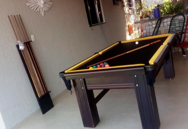Mesa de Snooker em Madeira Maciça Frete Grátis - Foto 4