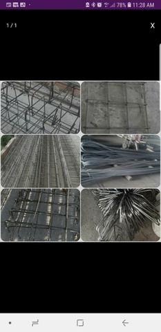Promoção de barras de ferro e colunas