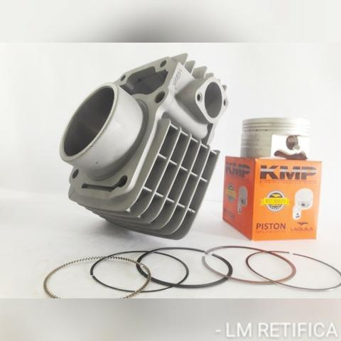 Kit Completo KMP Fan125p/190cc Cabo Ibooster + Aneis