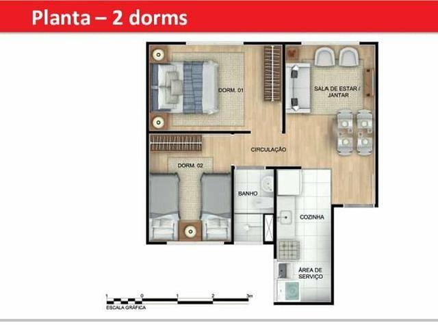 Rm. Apê 2 quartos , em ótima localização em SJP - Foto 2