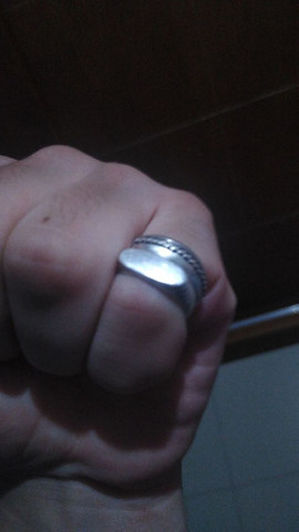 Dois anéis de prata  - Foto 3