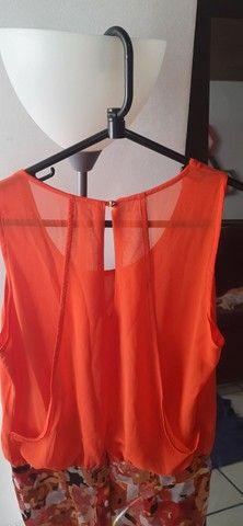 Vestido laranja. Roupa feminina. Bazar brechó desapego - Foto 3