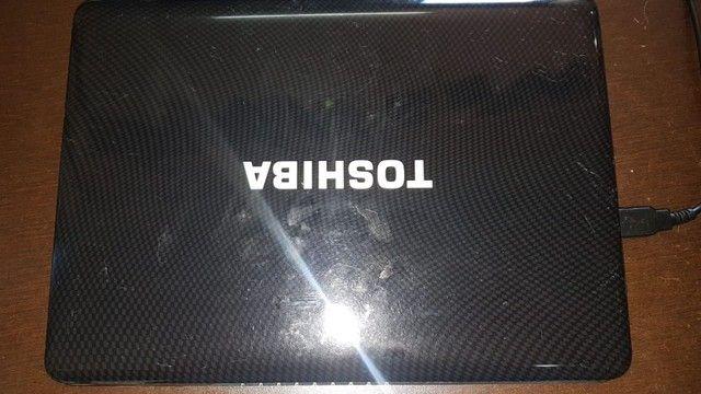 "Netbook Toshiba Atom 1.3ghz-3gb RAM-hd 250GB-Tela 10.1""-W 7 - Foto 3"
