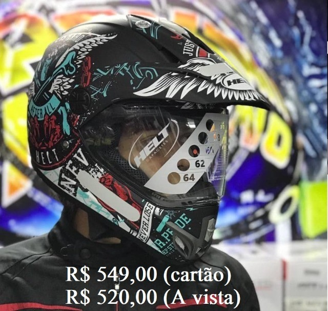 Capacete Off-Road helt e X11 a partir de R$ 520,00 JL Parts - Foto 3