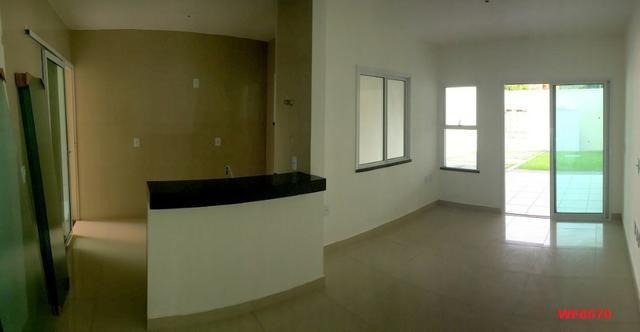 Casa plana na Sapiranga, 3 suítes, 2 vagas, casa nova, Próx Edilson Brasil Soares - Foto 5