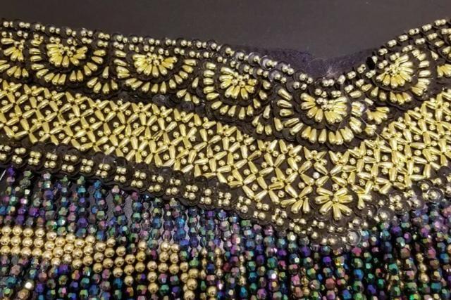 Cinturão Cinto P/ Saia Dança Do Ventre - Preto Dourado Azul - Foto 2