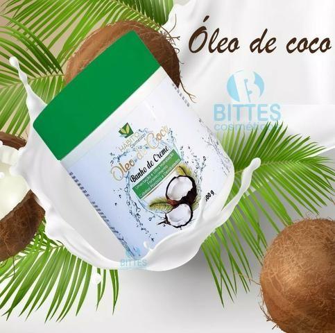 6 Banho de Creme 500 g Óleo de Coco Hábito Cosméticos - Foto 2