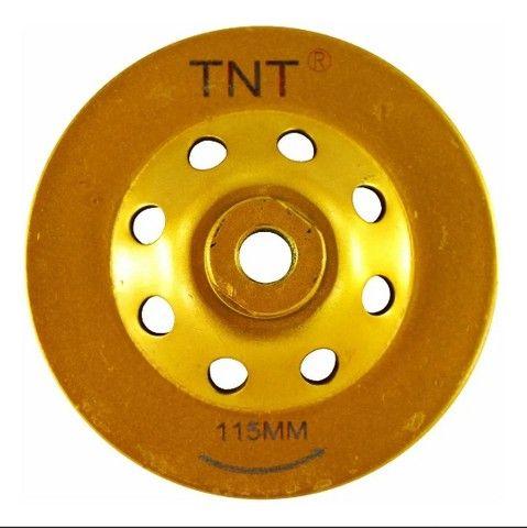 02 Discos Rebolo Diamantado Desbaste 4.1/2 100x22,30 Tnt C/02pçs - Foto 2