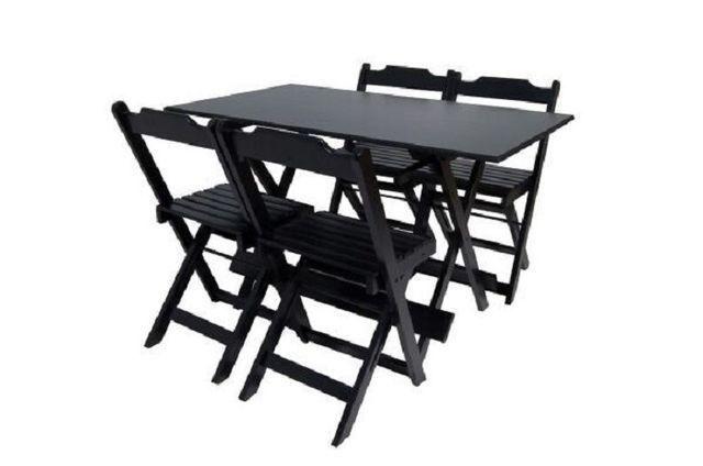 Mesas e Cadeiras Dobráveis Direto da Fábrica - Foto 4
