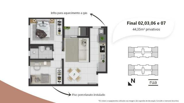 _= Excelente apartamento de 02 quartos,  suíte ,  100% financiado.  Fazendinha  - Foto 3