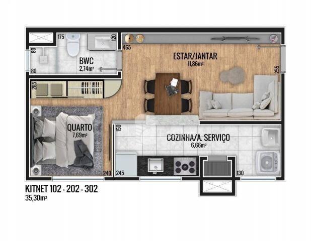 Apartamento 01 quarto no Fanny, Curitiba - Foto 9
