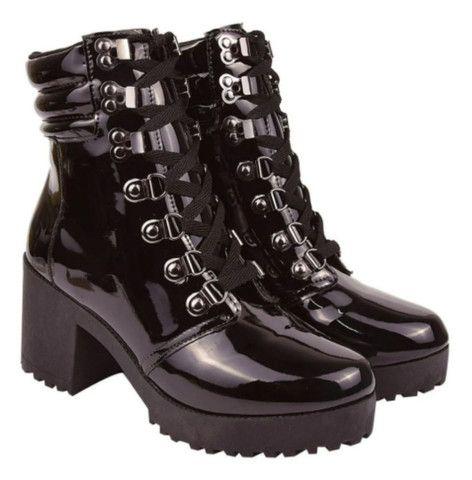 Coturno Feminina botas tratoradas - Foto 3