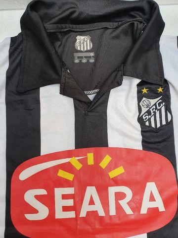 Camisa Santos Official Product Neymar Ganso 2010 G Coleção Decoração - Foto 4