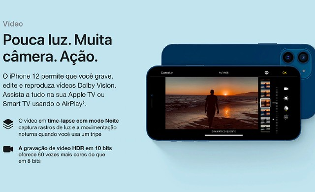iPhone 12 Apple 128GB Preto, Novo, Lacrado, NF - Foto 3