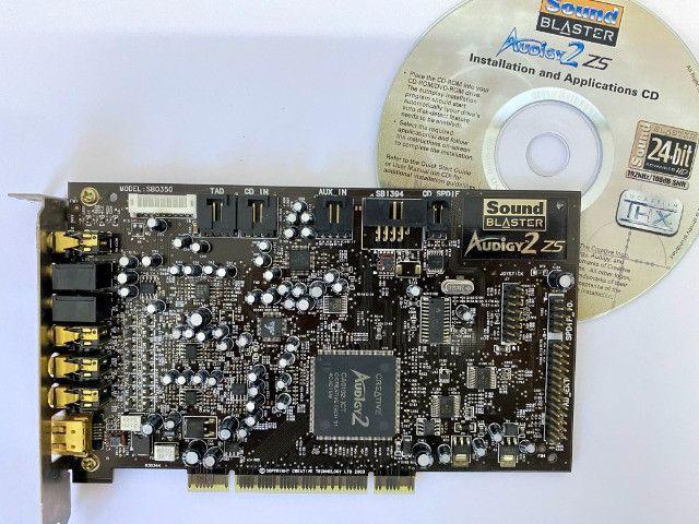 Placa De Som Creative Sound Blaster Audigy2 Zs Sb0350