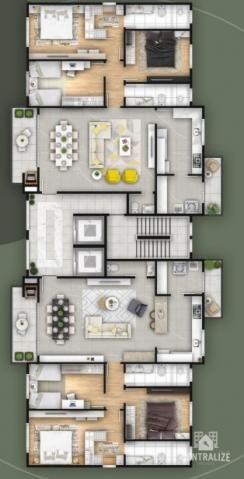 Apartamento à venda com 3 dormitórios em Estrela, Ponta grossa cod:1537 - Foto 10